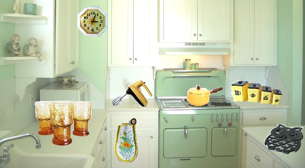 yellow retro kitchens - photo #32