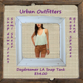 Daydreamer LA Snap-Front Swing Tank Top