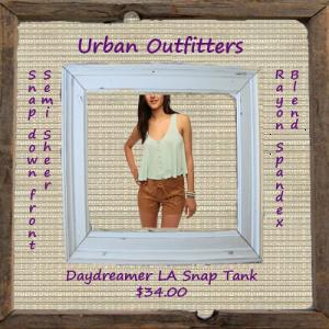 Daydreamer LA Snap-Front Swing Tank Top