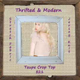 Taupe Crop Top