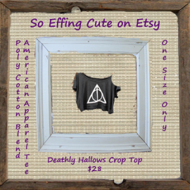 Deathly Hallows Crop Top